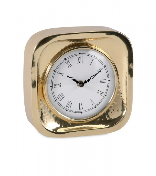 Essentials Celebrations Gold Clock