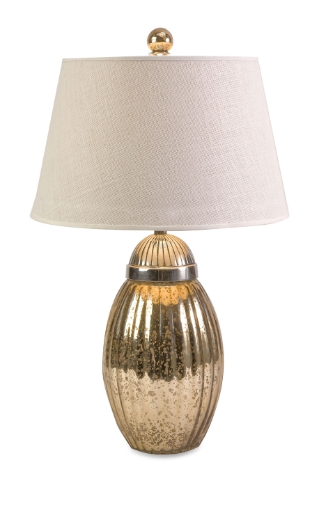 Fowler Ribbed Glass Lamp - IMAX