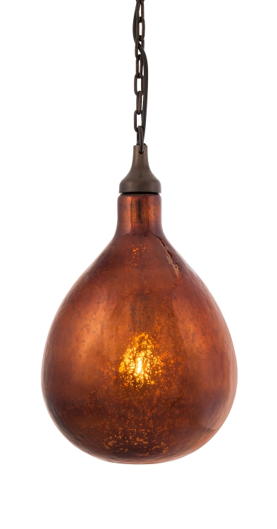 Salina Bronze Mercury Glass Pendant Light