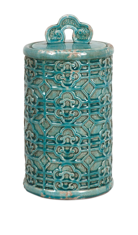 Kendall Teal Canister - Large