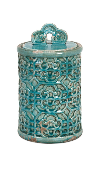 Kendall Teal Canister - Medium