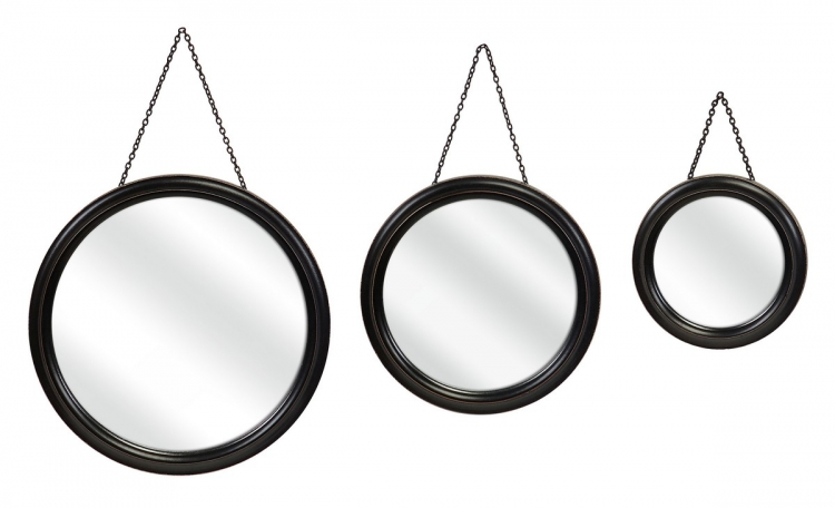 Round Hanging Mirrors - Set of 3 - IMAX