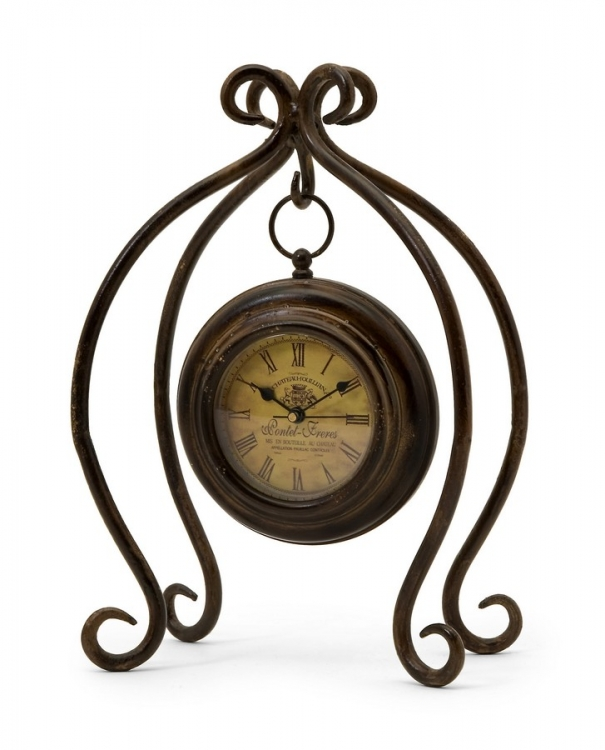 Iron Hanging Clock with Stand - IMAX