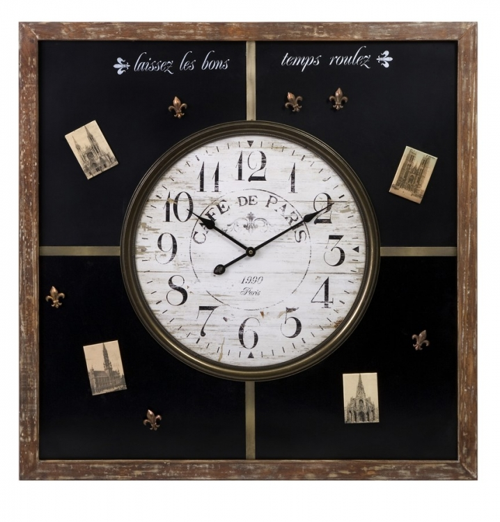 Paris Chalkboard Clock with Magnets