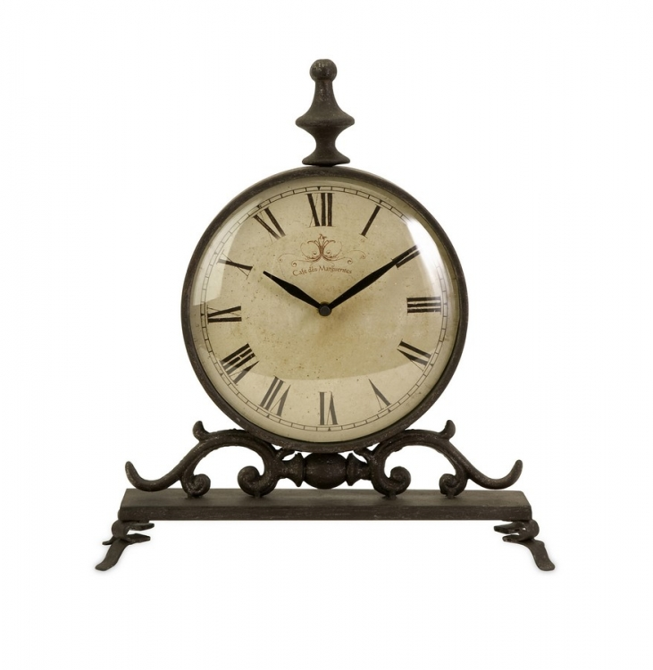 Eilard Iron Table Clock - IMAX