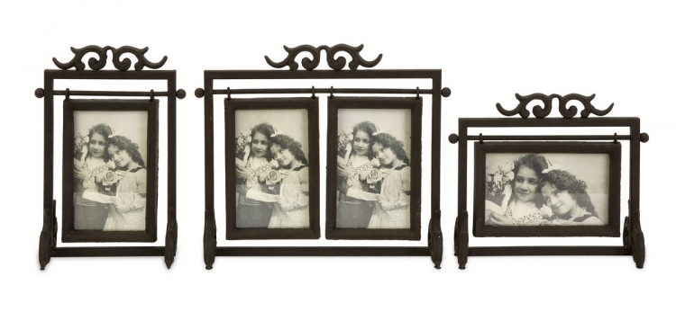 Ruben Cast Iron 4x6 Frames - Set of 3 - IMAX
