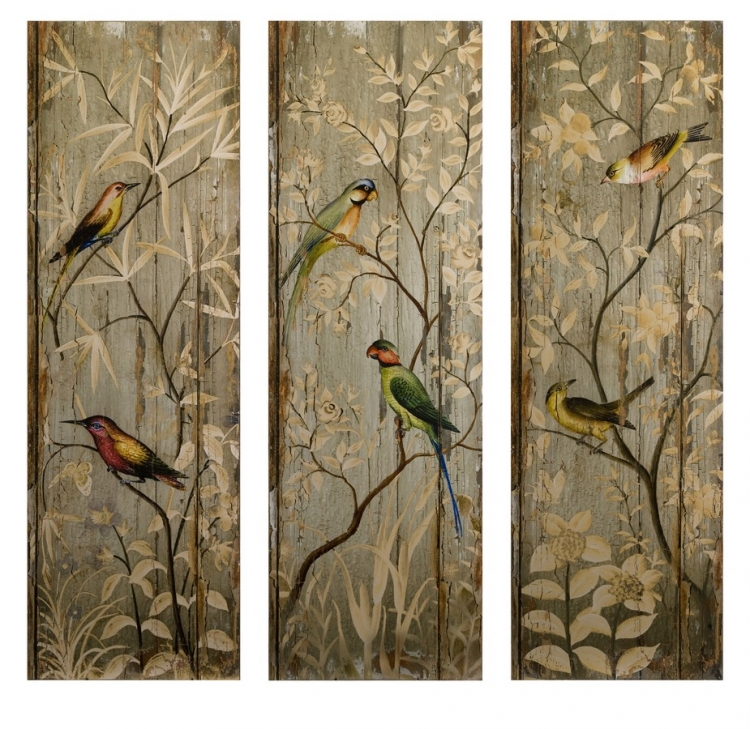 Calima Bird Wall Decor - Set of 3 - IMAX