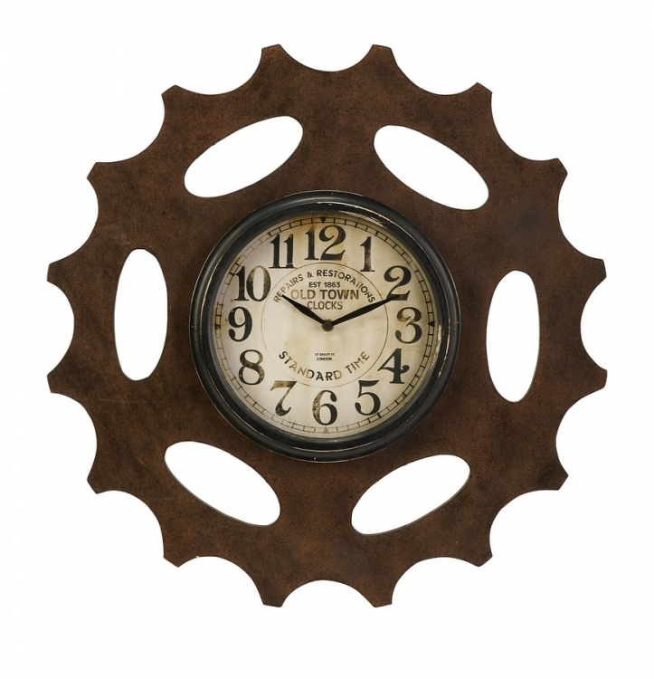 Rusted Gear Wall Clock - IMAX