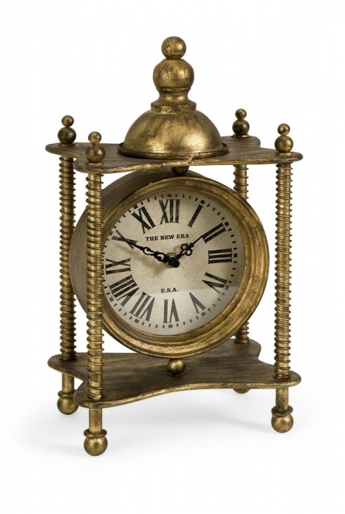 Claudette Gold Iron Clock