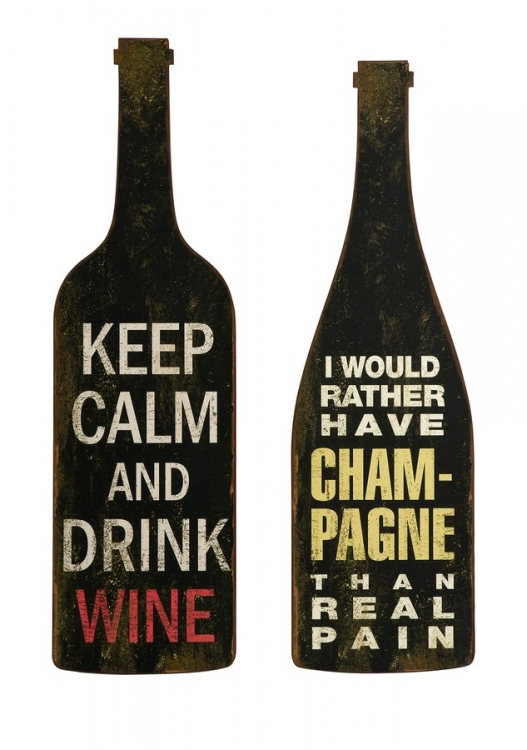 Lasalle Wine And Champagne Wall Decor - Set of 2