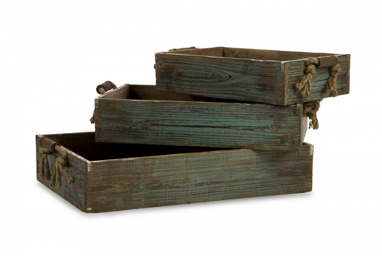 Northfork Wood Trays - Set of 3