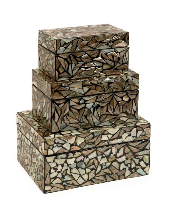 Neal Mother of Pearl Boxes - Set of 3 - IMAX