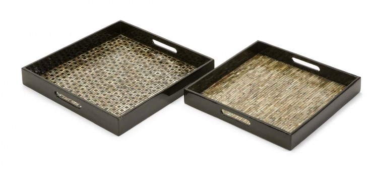 Jacobs Mother of Pearl Serving Trays - Set of 2