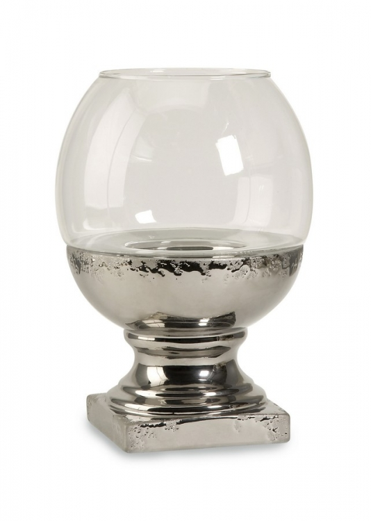 Sanura Large Glass And Ceramic Candleholder