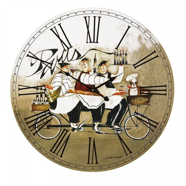 Chef In Paris Wall Clock