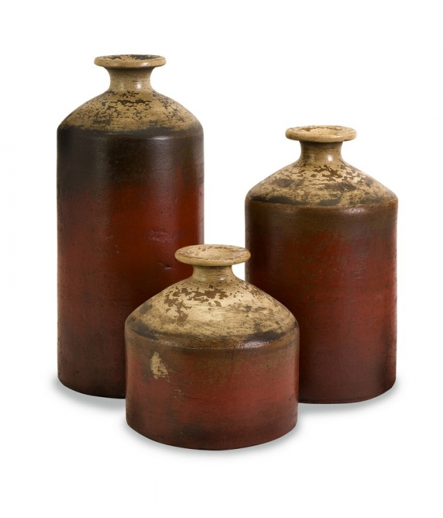 Colonia Bottle Vases - Set of 3