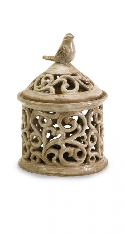 Small Vivienne Cutwork Lidded Jar - IMAX