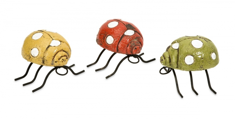 Corette Lady bug Wall Decor - Set of 3 - IMAX