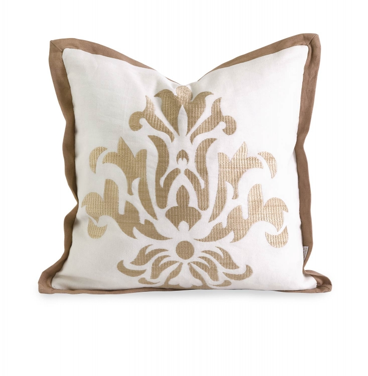Ik Kassa Embroidered Pillow with Down Fill