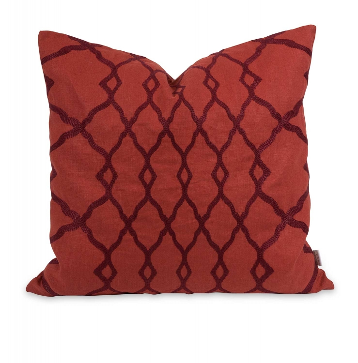 Ik Dyani Embroidered Pillow with Down Insert