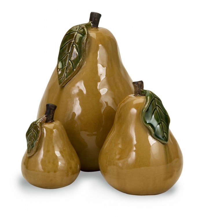 Ceramic Pears - Set of 3 - IMAX