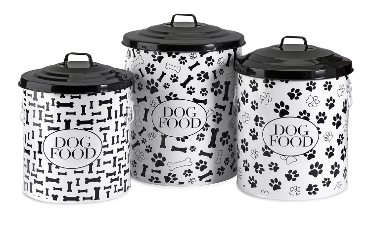 Dog Food Storage Canisters - Set of 3