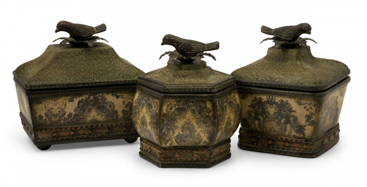 Lidded Bird Boxes - Set of 3 - IMAX