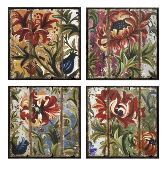 Tressa Framed Wall Decor - Set of 4