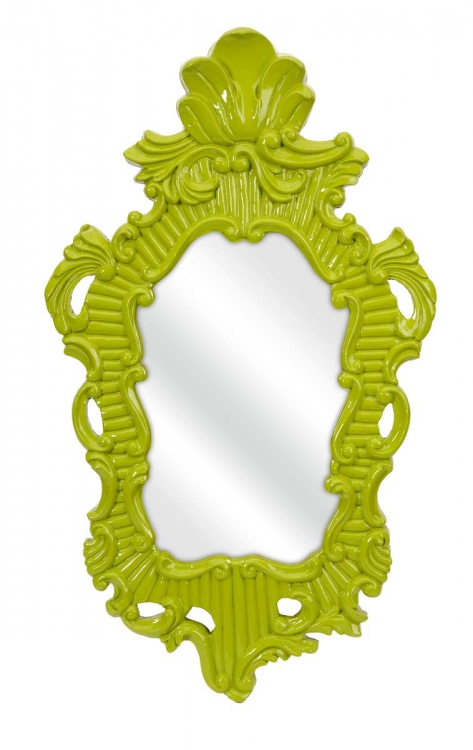 Finely Green Baroque Wall Mirror - IMAX