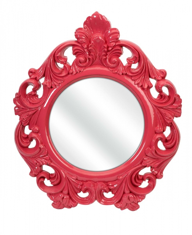 Finely Pink Baroque Wall Mirror - IMAX