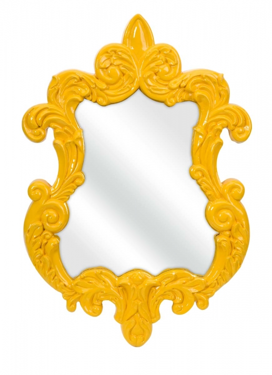 Finely Yellow Baroque Wall Mirror - IMAX