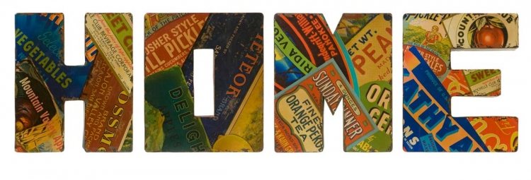 Vintage Home Sign Wall Decor - Set of 4 - IMAX