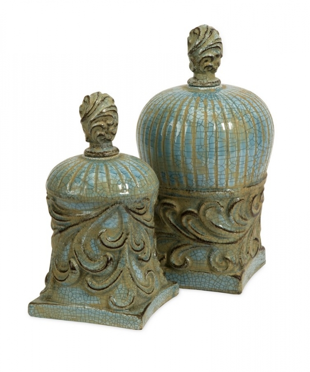 Rios Lidded Boxes - Set of 2