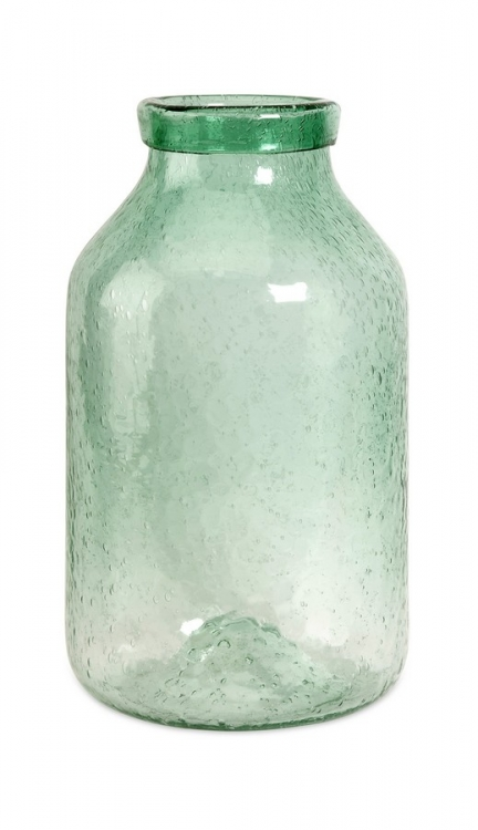 Cadell Large Green Bubble Glass Jar