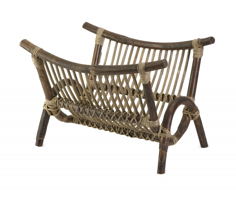 Kobu Natural Rattan Magazine Rack - IMAX