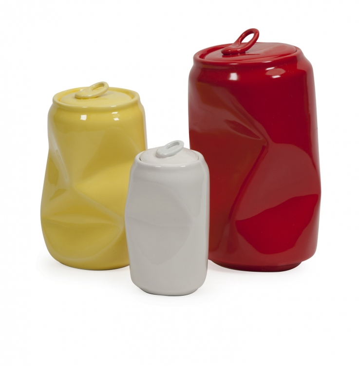 Harleigh Ceramic Cans - Set of 3