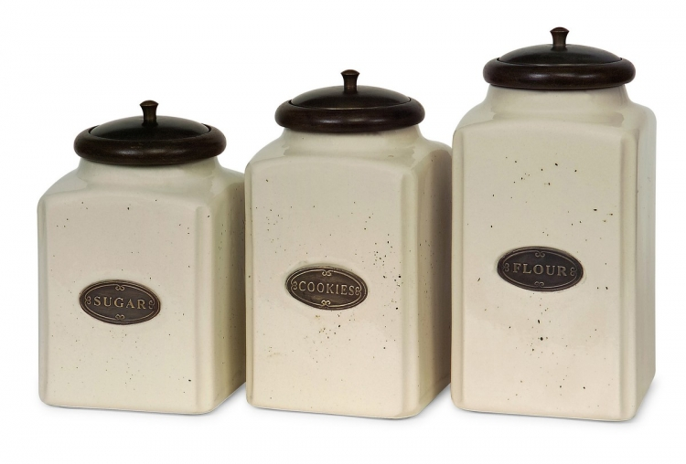 Ivory Canisters - Set of 3 - IMAX