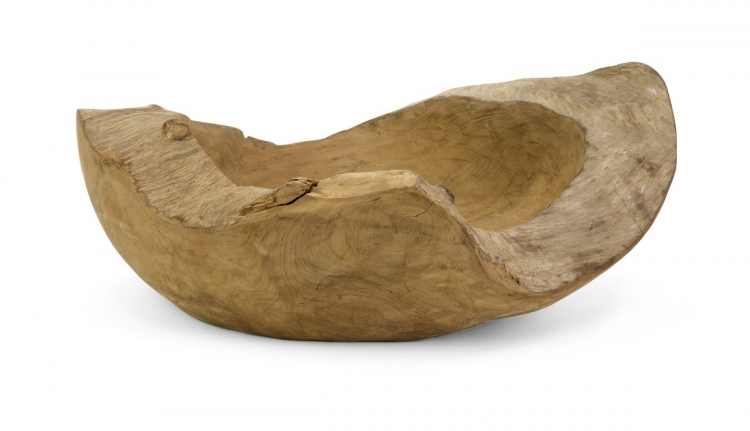 Macaque Large Teakwood Bowl