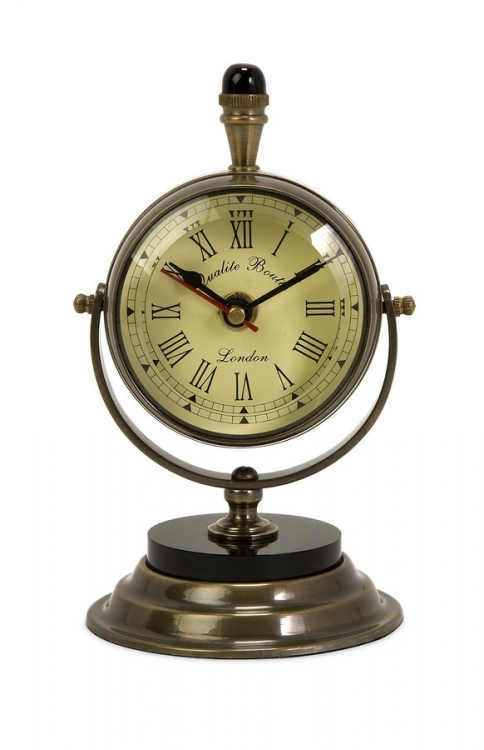 Soren Brass Table Clock - IMAX