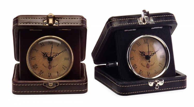 Vintage Travel Clocks - Set of 2