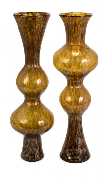 Marcellus Glass Mirroring Vases - Set of 2 - IMAX