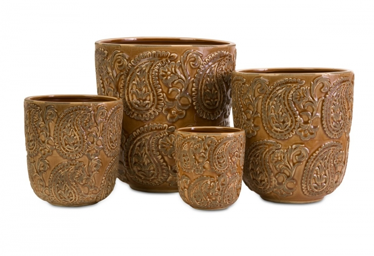 Paisley Planters - Set of 4 - IMAX