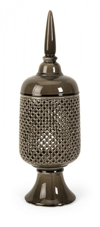 Polard Large Cutwork Canister with Lid