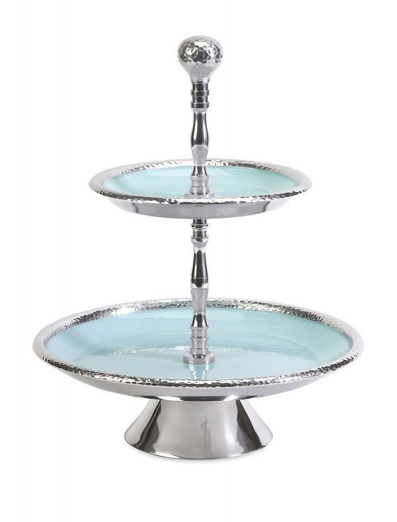 Donna Enamel Two-Tier Stand