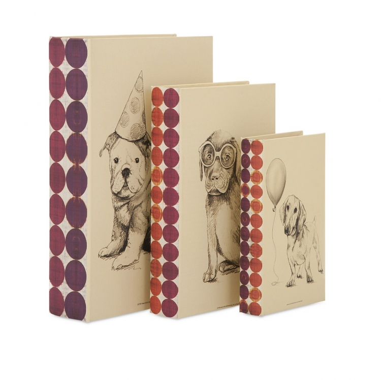 Henner Dog Party Book Boxes - Set of 3