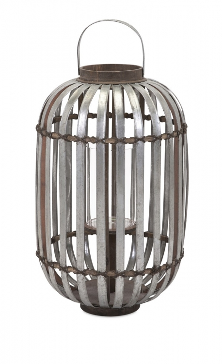 Logan Galvanized Lantern - Large