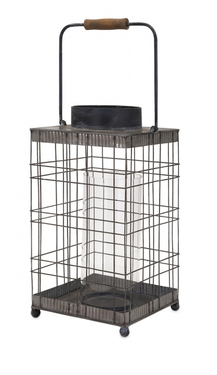 Pitzer Wire Lantern - Large