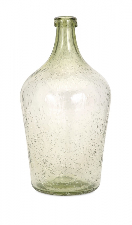 Bryn Green Bubble Glass Jug
