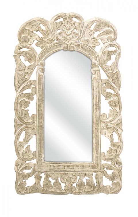 Aurelia Rectangle Mahogany Wood Wall Mirror - IMAX