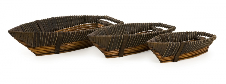 Hampton Boat Willow Trays - Set of 3